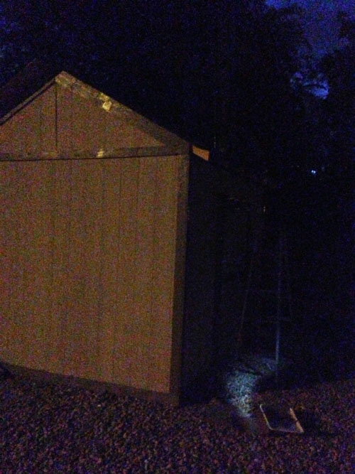 Shed in dark
