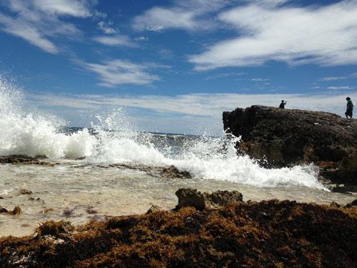 Cozumel waves crash